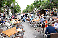 An outdoor cafe in Cordoba, Spain