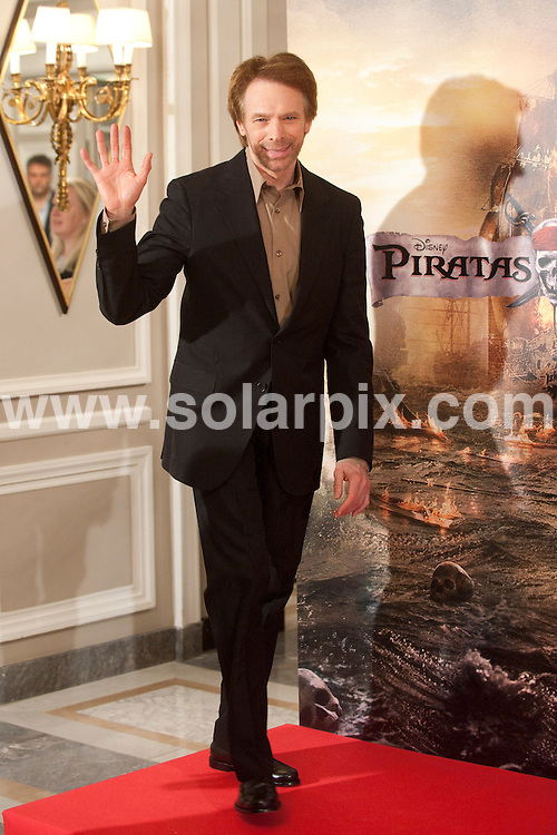 "**ALL ROUND PICTURES FROM SOLARPIX.COM**                                             **WORLDWIDE SYNDICATION RIGHTS EXCEPT SPAIN - NO SYNDICATION IN SPAIN**                                                                                  Photocall for the Spanish premiere of the new movie, ""Pirates of the Caribbean: On Stranger Tides"" in Madrid today.                                                                          .This pic:   Jerry Bruckheimer                                                                                           JOB REF:     13369   DMS       DATE:  18.05.11                                                          **MUST CREDIT SOLARPIX.COM OR DOUBLE FEE WILL BE CHARGED**                                                                      **MUST AGREE FEE BEFORE ONLINE USAGE**                               **CALL US ON: +34 952 811 768 or LOW RATE FROM UK 0844 617 7637**"