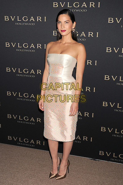 WEST HOLLYWOOD, CA- FEBRUARY 25: Actress Olivia Munn arrives at the BVLGARI 'Decades Of Glamour' Oscar Party Hosted By Naomi Watts at Soho House on February 25, 2014 in West Hollywood, California.<br /> CAP/ROT/TM<br /> &copy;Tony Michaels/Roth Stock/Capital Pictures