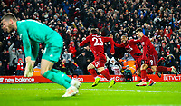 Liverpool's Xherdan Shaqiri celebrates scoring his side's second goal<br /> <br /> Photographer AlexDodd/CameraSport<br /> <br /> The Premier League - Liverpool v Manchester United - Sunday 16th December 2018 - Anfield - Liverpool<br /> <br /> World Copyright &copy; 2018 CameraSport. All rights reserved. 43 Linden Ave. Countesthorpe. Leicester. England. LE8 5PG - Tel: +44 (0) 116 277 4147 - admin@camerasport.com - www.camerasport.com