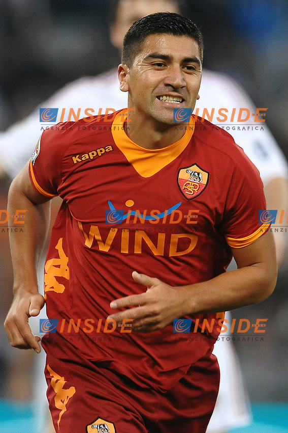 "David PIZARRO Roma.Roma 29/10/2011 Stadio ""Olimpico"".Football Calcio Serie A 2011/2012 .Roma Vs Milan.Foto Insidefoto Andrea Staccioli"