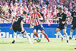 Atletico de Madrid's Saul Niguez and Sevilla's Steven N'Zonzi during La Liga match between Atletico de Madrid and Sevilla FC at Wanda Metropolitano Stadium in Madrid, Spain September 23, 2017. (ALTERPHOTOS/Borja B.Hojas)