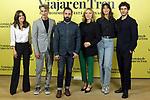 Macarena Garcia (l), Ernesto Alterio, Aritz Moreno, Pilar Castro, Belen Cuesta and Quim Gutierrez attend Ventajas De Viajar En Tren photocall at Urso Hotel on November 05, 2019 in Madrid, Spain.(ALTERPHOTOS/ItahisaHernandez)