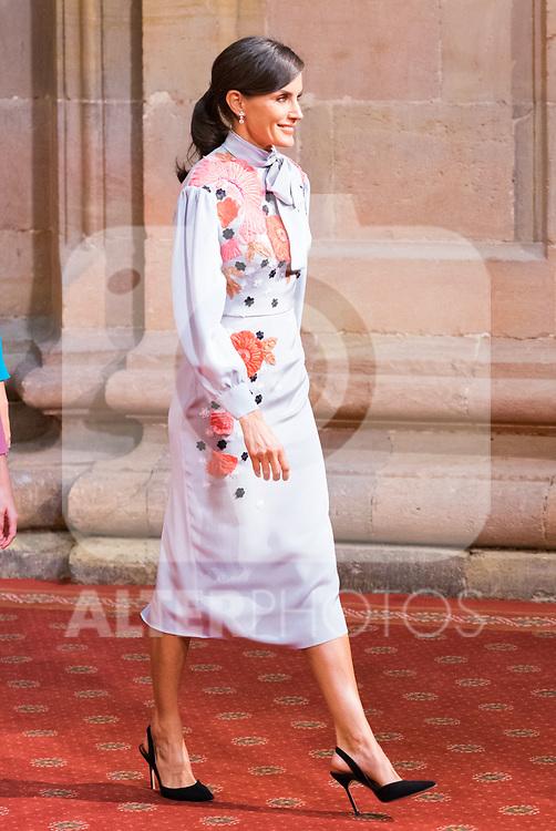 Queen Letizia, attend auddience in Oviedo because of Princess of Asturias Awards 2019. October 18, 2019 (Alterphotos/ Francis Gonzalez)