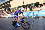 Enric Mas Nicolau (ESP) Quick-Step Floors during Stage 1 of the La Vuelta 2018, an individual time trial of 8km running around Malaga city centre, Spain. 25th August 2018.<br /> Picture: Ann Clarke | Cyclefile<br /> <br /> <br /> All photos usage must carry mandatory copyright credit (© Cyclefile | Ann Clarke)