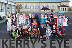 Currow NS pupils who held a fancy dress in the school to help raise funds to upgrade the computers in the school on Friday