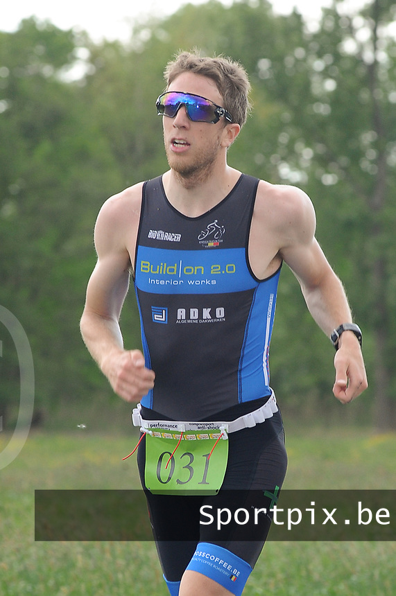 20170514 GEEL : Kwart Triathlon  -  1/4 Triathlon<br /> Loopproef<br /> Tom Dankers<br /> <br /> PHOTO SPORTPIX.BE / DIRK VUYLSTEKE