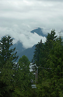 Looking to wards Mount Seymour provincial park from Deep Cove,North Vancouver, British Columbia,Canada.