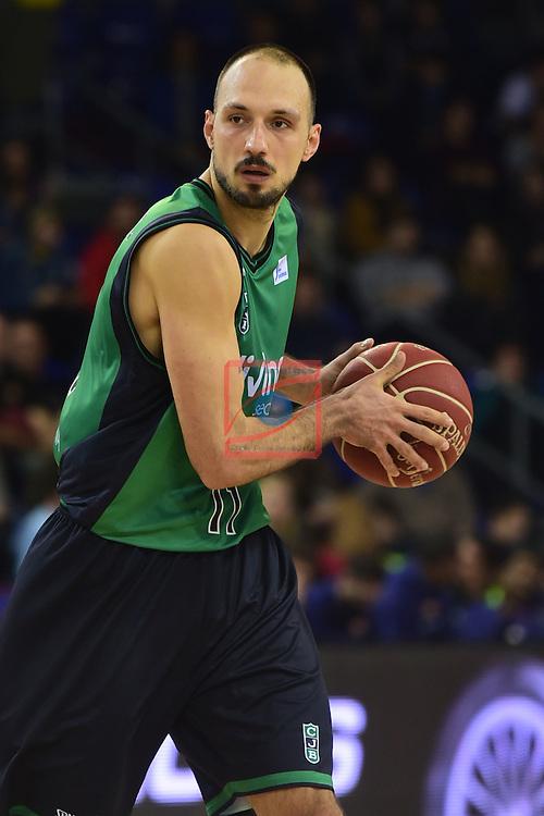 League ACB-ENDESA 2016/2017 - Game: 13.<br /> FC Barcelona Lassa vs Divina seguros Joventut: 79-77.<br /> Bogdanovic.