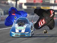 Feb 9, 2017; Pomona, CA, USA; NHRA top alcohol funny car driver Shane Westerfield during qualifying for the Winternationals at Auto Club Raceway at Pomona. Mandatory Credit: Mark J. Rebilas-USA TODAY Sports