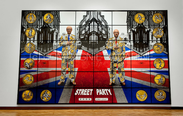 The Jack Freak Pictures exhibition of British contemporary artists Gilbert and George in the Bozar, Brussels (Belgium, 28/10/2010)