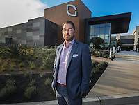 Nov. 14, 2019. San Diego, CA.| INuVasive's CEO Chris Barry in front of the companies Experience Center under construction.. | Photos by Jamie Scott Lytle. Copyright.