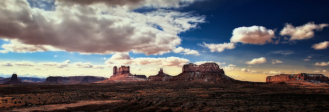 Panoramic view of Monument Valley, Utah