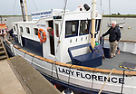 Lady Florence river cruise restaurant at the quayside Orford, Suffolk, England, UK