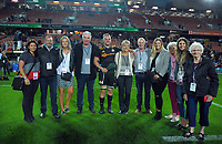 Chiefs centurion Sam Cane with his family after the Super Rugby match between the Chiefs and Highlanders at FMG Stadium in Hamilton, New Zealand on Friday, 30 March 2018. Photo: Dave Lintott / lintottphoto.co.nz