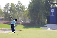 Paul Dunne (IRL) on the 16th during the 1st round of the DP World Tour Championship, Jumeirah Golf Estates, Dubai, United Arab Emirates. 15/11/2018<br /> Picture: Golffile | Fran Caffrey<br /> <br /> <br /> All photo usage must carry mandatory copyright credit (&copy; Golffile | Fran Caffrey)