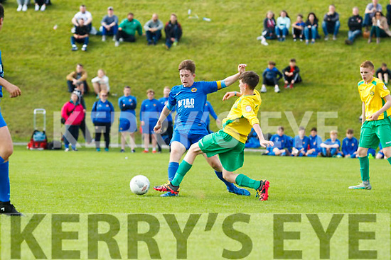 Philips Evan (KY) and Kenneth Lee (N Tipp) in the Kennedy Cup match in UL, Limerick on Tuesday evening.