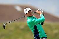 Tiarnan McLarnon (Massereene) on the 5th tee during Round 1 of the The Amateur Championship 2019 at The Island Golf Club, Co. Dublin on Monday 17th June 2019.<br /> Picture:  Thos Caffrey / Golffile<br /> <br /> All photo usage must carry mandatory copyright credit (© Golffile | Thos Caffrey)