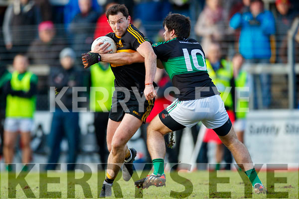 Daithi Casey  Dr Crokes in action against Barry O'Driscoll Nemo Rangers in the Munster Senior Club Championship Final at Páirc Ui Rinn, Cork on Sunday.