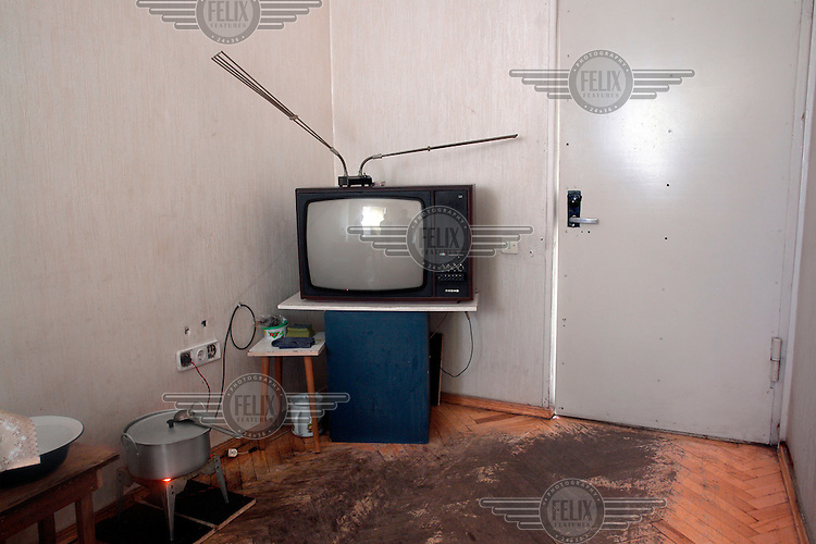 Interior of a room inhabitted by an Internally Displaced Person (IDP) from South Ossetia.