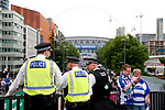 Policemen watch over Wembley Way during the SkyBet Championship Play Off Final match at the Wembley Stadium, England. Picture date: May 29th, 2017.Picture credit should read: Matt McNulty/Sportimage