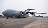 """UK PROVIDES LOGISTICAL AID TO FRENCH MALI OPERATION.Royal Air Force C-17 strategic transport aircrafts transport armoured vehicles and other military equipment to the Malian capital Bamako. .French forces are assisting the Government of Mali to contain rebel and extremist groups in the North of the country_16/01/2013.Mandatory Credit Photo: ©Traylor/NEWSPIX INTERNATIONAL..**ALL FEES PAYABLE TO: """"NEWSPIX INTERNATIONAL""""**..IMMEDIATE CONFIRMATION OF USAGE REQUIRED:.Newspix International, 31 Chinnery Hill, Bishop's Stortford, ENGLAND CM23 3PS.Tel:+441279 324672  ; Fax: +441279656877.Mobile:  07775681153.e-mail: info@newspixinternational.co.uk"""
