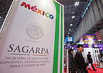 March 3, 2015, Chiba, Japan - A picture released on March 4, 2015 shows visitors walking through the Mexico booth area during the 40th annual International Food and Beverage Exhibition (FOODEX JAPAN 2015). Some 2,977 exhibitors from 79 nations participate in what is known to be the largest food and beverage exhibition in Asia. 75,000 buyers which include wholesalers, food service companies, and distributors are expected to attend FOODEX which runs from March 3-6. (Photo by AFLO)
