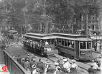 The opening of the New Haven Trolley on the fourth of July, 1907.