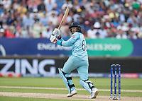 Joe Root (England) off his pads to fine leg during Australia vs England, ICC World Cup Semi-Final Cricket at Edgbaston Stadium on 11th July 2019