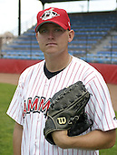 July 3, 2004:  Pitcher David Humen of the Jamestown Jammers, Single-A NY-Penn League affiliate of the Florida Marlins, during a game at Russell Diethrick Park in Jamestown, NY.  Photo by:  Mike Janes/Four Seam Images