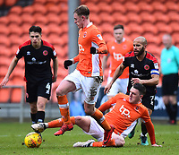 Blackpool's Callum Cooke stretches for the ball<br /> <br /> Photographer Richard Martin-Roberts/CameraSport<br /> <br /> The EFL Sky Bet League One - Blackpool v Walsall - Saturday 10th February 2018 - Bloomfield Road - Blackpool<br /> <br /> World Copyright &not;&copy; 2018 CameraSport. All rights reserved. 43 Linden Ave. Countesthorpe. Leicester. England. LE8 5PG - Tel: +44 (0) 116 277 4147 - admin@camerasport.com - www.camerasport.com