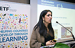"BRUSSELS - BELGIUM - 24 November 2016 -- European Training Foundation (ETF) Conference on ""GETTING ORGANISED FOR BETTER QUALIFICATIONS"". -- Ana Carla Pereira, DG Employment  Social Affairs and Inclusion, Head of Unit -Skills and Qualifications. -- PHOTO: Juha ROININEN / EUP-IMAGES"