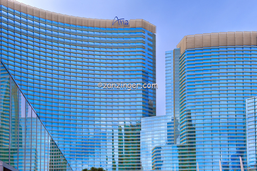 Aria, Hotel, Casino, Resort, CityCenter, Hi-Rise, Las Vegas, NV; Nevada; Vertical; Resort, Hospitality, Strip; gambling; shopping, Sunrise, Blue Sky, Travel, Destination, View, Unique, Quality HDR