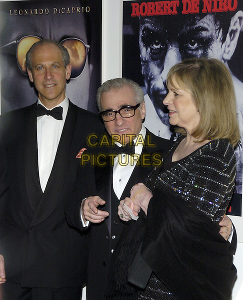 "GLENN LOWRY, MARTIN SCORSESE & HELEN SCORSESE.The 39th annual ""The Party in the Garden"" at the Museum of Modern Art, New York City, New York, USA..May 15th, 2007.half length dinner jacket tuxedo profile wife husband married bow tie glasses .CAP/ADM/BL.©Bill Lyons/AdMedia/Capital Pictures *** Local Caption ***"
