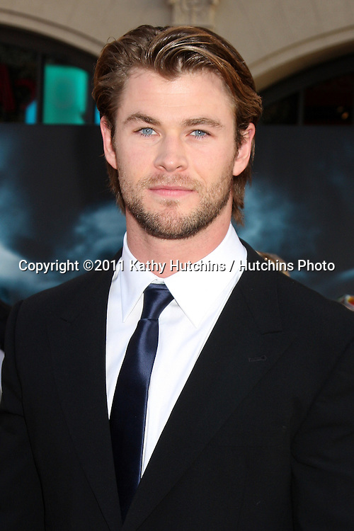 """LOS ANGELES - MAY 2:  Chris Hemsworth arriving at the """"Thor"""" World Premiere at El Capitan theater on May 2, 2011 in Los Angeles, CA"""