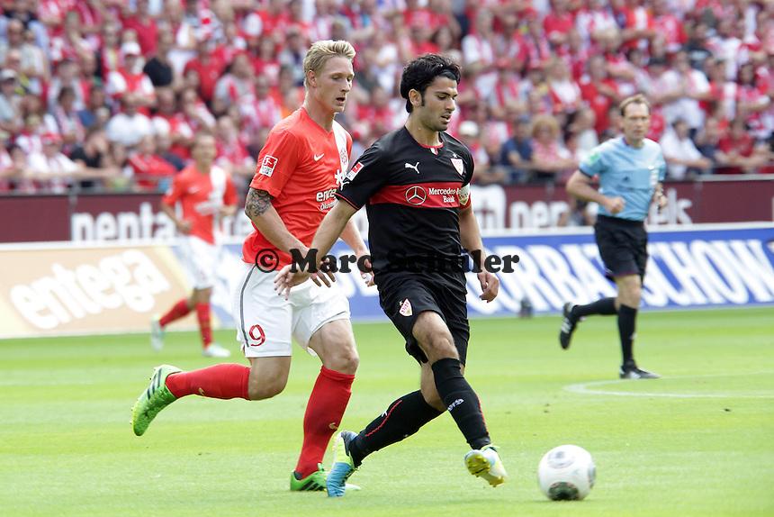 Serdar Tasci (VfB) gegen Sebastian Polter (Mainz) - Mainz 05 vs. VfB Stuttgart