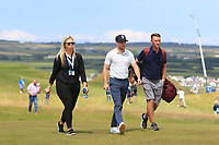 Niall Horan (AM) on the 2nd fairway during the Pro-Am of the Irish Open at LaHinch Golf Club, LaHinch, Co. Clare on Wednesday 3rd July 2019.<br /> Picture:  Thos Caffrey / Golffile<br /> <br /> All photos usage must carry mandatory copyright credit (© Golffile | Thos Caffrey)