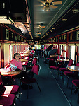 WALLY BAUMAN PHOTOGRAPHY .   In the bar car with entertainment
