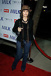 """BEVERLY HILLS, CA. - November 13: Actress Gina Gershon arrives at the Los Angeles Premiere of """"Milk"""" at the Academy of Motion Pictures Arts and Sciences on November 13, 2008 in Beverly Hills, California."""