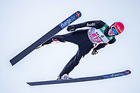1st January 2020, Olympiaschanze, Garmisch Partenkirchen, Germany, FIS World cup Ski Jumping, 4-Hills competition; Stephan Leyhe of Germany during his trial Jump for the Four Hills Tournament