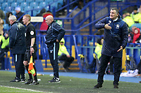 Blackburn Rovers manager Tony Mowbray shouts instructions to his team<br /> <br /> Photographer David Shipman/CameraSport<br /> <br /> The EFL Sky Bet Championship - Sheffield Wednesday v Blackburn Rovers - Saturday 16th March 2019 - Hillsborough - Sheffield<br /> <br /> World Copyright &copy; 2019 CameraSport. All rights reserved. 43 Linden Ave. Countesthorpe. Leicester. England. LE8 5PG - Tel: +44 (0) 116 277 4147 - admin@camerasport.com - www.camerasport.com