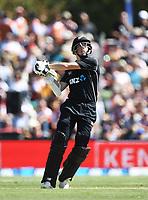 Mitchell Santner.<br /> New Zealand Blackcaps v England. 5th ODI International one day cricket, Hagley Oval, Christchurch. New Zealand. Saturday 10 March 2018. &copy; Copyright Photo: Andrew Cornaga / www.Photosport.nz
