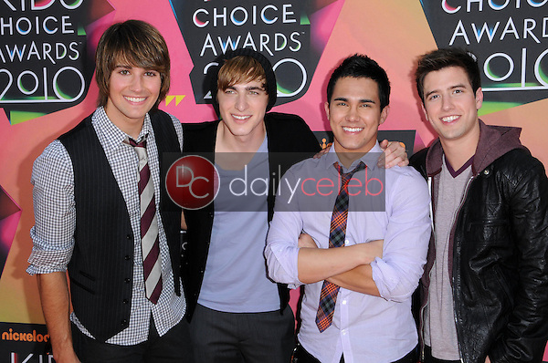 Big Time Rush<br /> at the Nickelodeon's 23rd Annual Kids' Choice Awards, UCLA's Pauley Pavilion, Westwood, CA 03-27-10<br /> David Edwards/DailyCeleb.com 818-249-4998