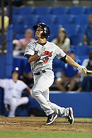 Brevard County Manatees  second baseman Alfredo Rodriguez (3) during a game against the Dunedin Blue Jays on April 11, 2014 at Florida Auto Exchange Stadium in Dunedin, Florida.  Brevard County defeated Dunedin 5-2.  (Mike Janes/Four Seam Images)
