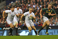 Rugby Union. Twickenham, England. Mike Brown of England in action during the QBE international match between England and South Africa at Twickenham Stadium on November 24, 2012 in Twickenham, England