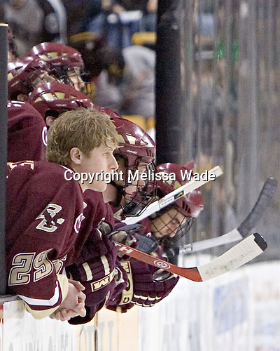BC bench - The Boston College Eagles defeated the University of Maine Black Bears 4-1 in the Hockey East Semi-Final at the TD Banknorth Garden on Friday, March 17, 2006.