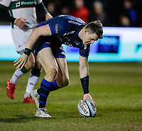6th March 2020; AJ Bell Stadium, Salford, Lancashire, England; Gallagher Premiership Rugby, Sale Sharks versus London Irish;  Sam James of Sale Sharks scores the opening try for Sale which was converted to give sale a 7-0 lead