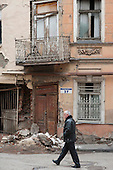 Dilapidated housing in Old Tbilisi, Georgia.  Many houses in the district are in extremely poor condition.