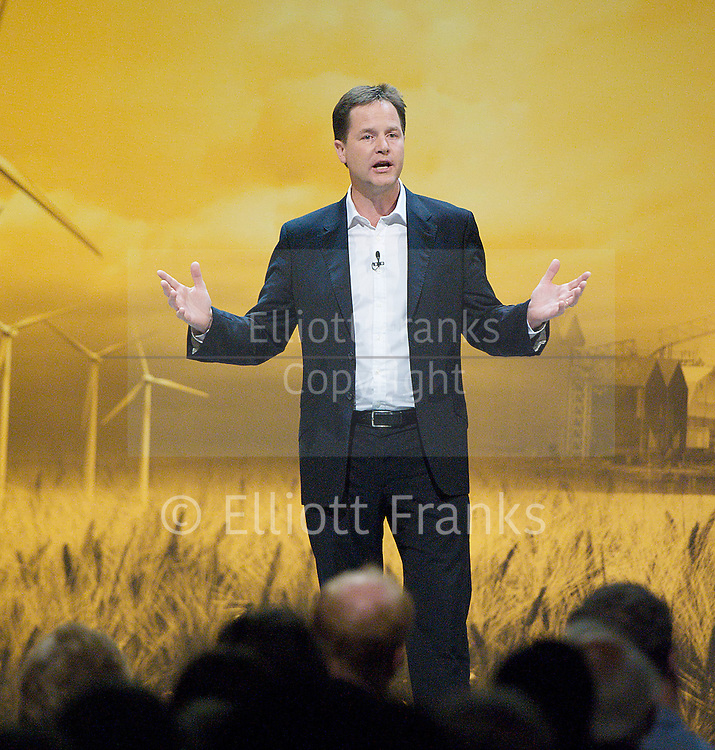 The Liberal Democrats Annual Autumn Conference 2012 at The Brighton Centre, Brighton, East Sussex, Great Britain <br />