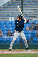 Kenny Corey (10) of the Helena Brewers at bat against the Great Falls Voyagers at Centene Stadium on August 19, 2017 in Helena, Montana.  The Voyagers defeated the Brewers 8-7.  (Brian Westerholt/Four Seam Images)